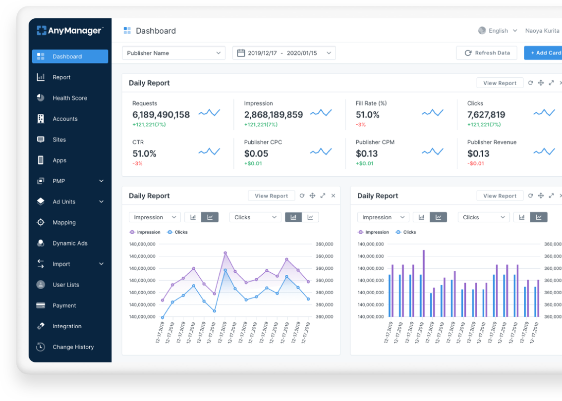 AnyManager Dashboard